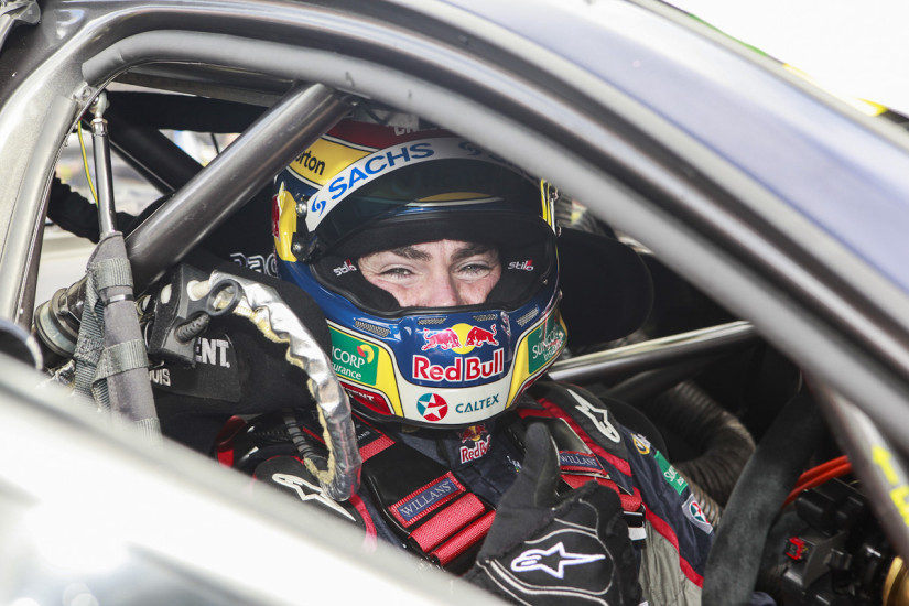 Craig Lowndes before the 2013 V8 Supercars Championship, the Chill Perth 360 at Barbagallo Raceway, WA.
