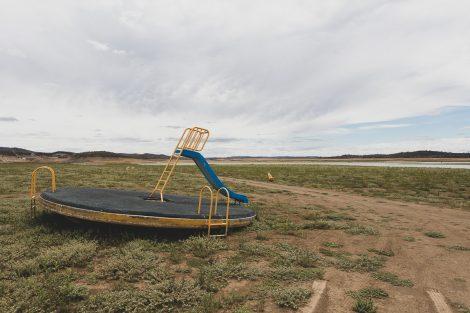 Drought at Lake Keepit, NSW. The dam sits at 0.5% capacity.